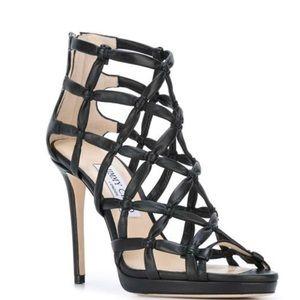 Jimmy Choo Venus 100 Sandals In Black sz 37
